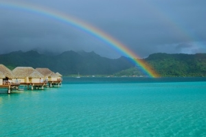 Taha'a rainbows, Tahiti Journey