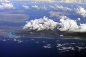 Raiatea island aerial view